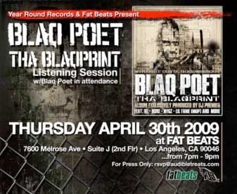 Blaq Poet LA Listening Party For Tha Blaqprint