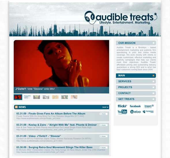 AudibleTreats.com Gets A Makeover