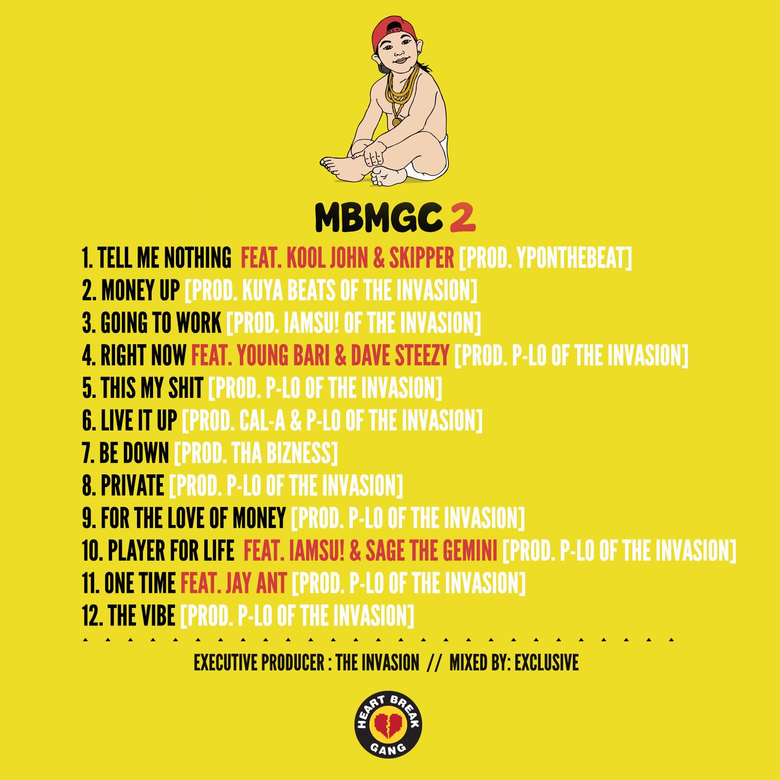 MBMGC 2 Tracklist