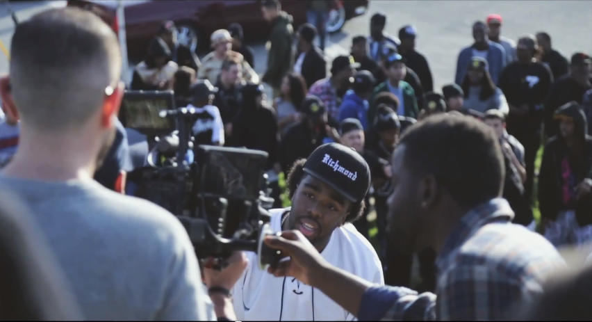 "Iamsu! on set for ""Only That Real"" Video"