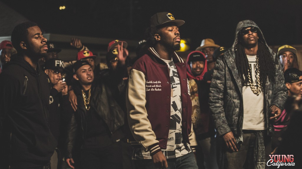 "Iamsu!, Sage the Gemini, and 2 Chainz on set for ""Only That Real"" Video"