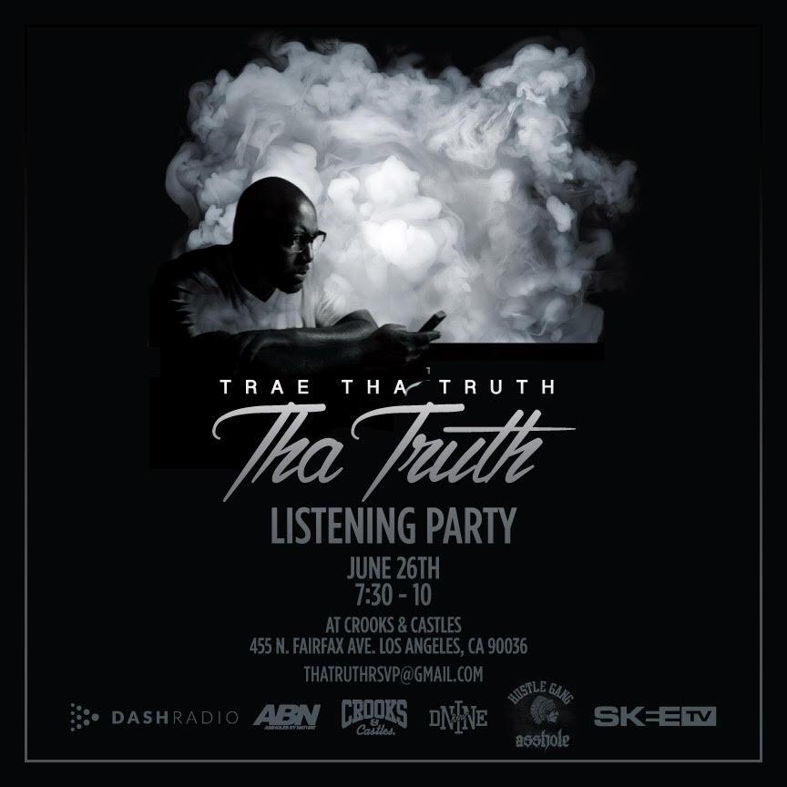 trae listening party LA
